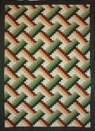 Custom Quilt in Basketweave Pattern