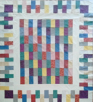 Custom Quilt in Brick-a-Brack pattern