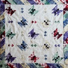 Custom quilt in Butterflies pattern