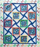 custom quilt in Calypso pattern
