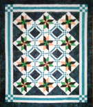 custom quilt in Jewel of the Night pattern