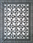 Custom quilt in Kaleidoscope pattern