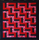 Custom Quilt in Rail Fence Pattern