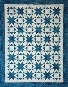 Custom quilt in Star Burst pattern