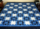 Custom quilt in Stars Ablaze pattern