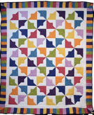 Custom Quilt in Tiddly Winks Pattern