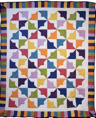 Custom quilt in Tiddly Winks 2 Pattern